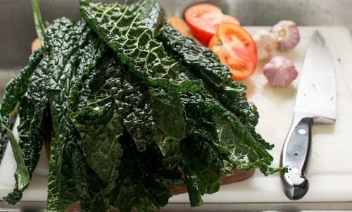 kale on cutting board