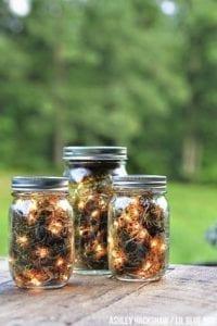 fall decor three firefly lanterns made with mason jars