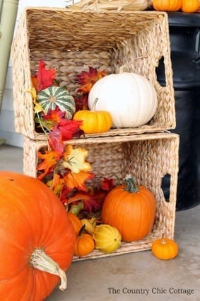 pumpkins and baskets