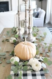 tablescape with white and seafoam