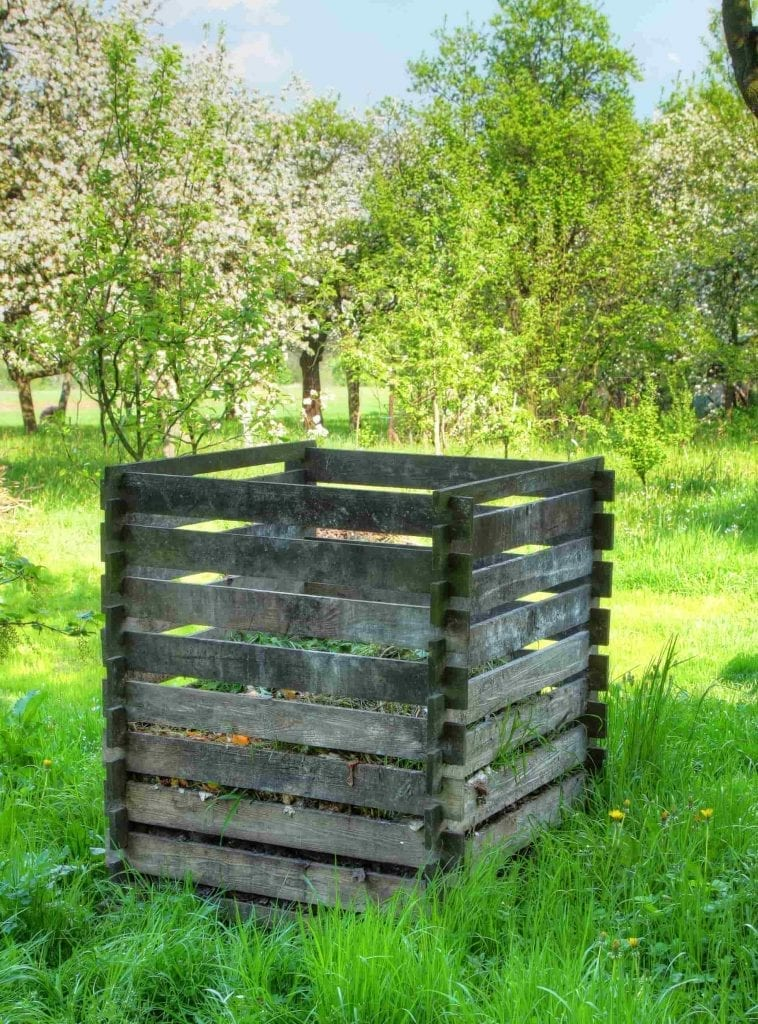 compost bin made out of wood