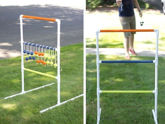 DIY golf game made from PVC pipe